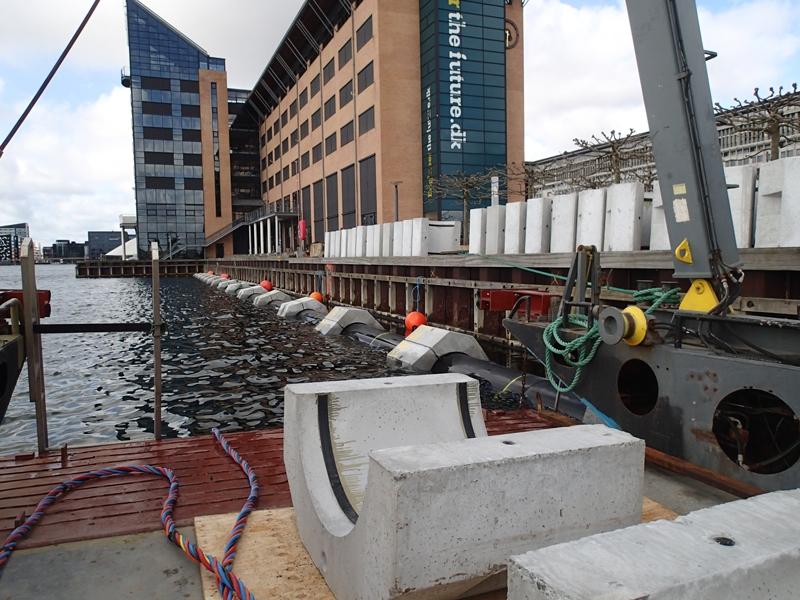 Udlægning af Ø900 afkastledning i København