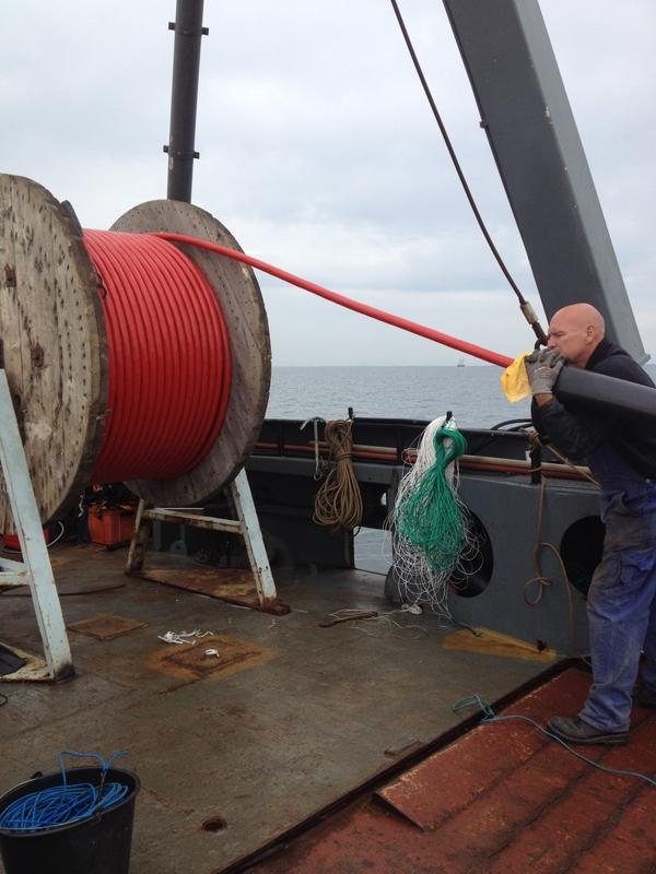 Ilandtagning af nyt kabel i underboring